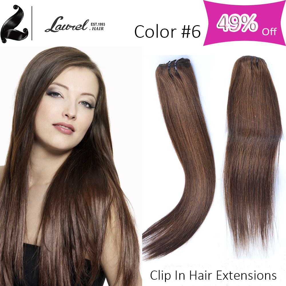 Hot 7a Grade Brazilian Straight Viegin Hair Extensions Clip In Blonde Laurel Hair Products 16-24 Real Human Hair Extension Clip
