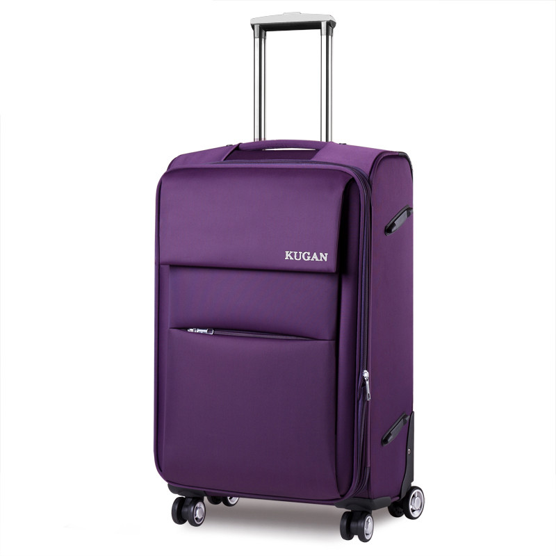 Cool universal wheels trolley luggage oxford fabric box travel bag luggage 18 20 22 24 26 28 inches waterproof fabric luggage