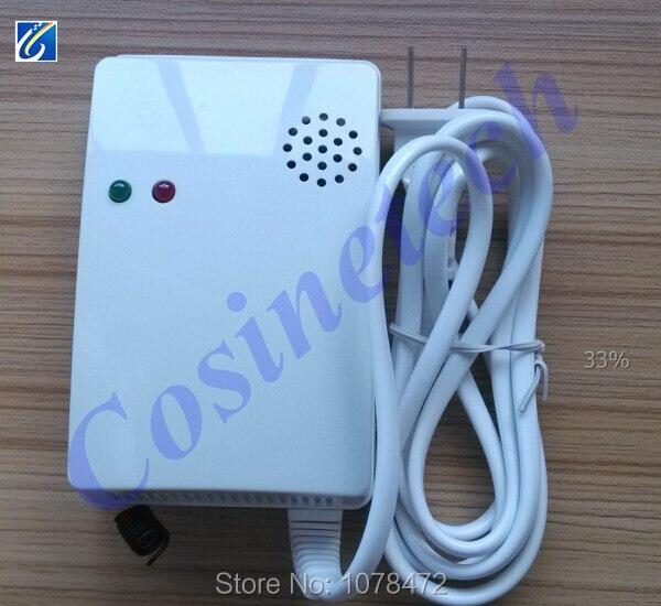 Sans fil capteur de gaz GPL, gaz combustibles détecteur de fuite pour nos systèmes d'alarme, 433 MHZ/315 MHZ charbon alarme de gaz pour la maison systèmes d'alarme