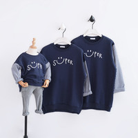 Family Look 2018 New Mother Father Baby Cotton Mommy and Me Clothes Family Clothing Plaid T Shirt Family Matching Outfits CC671