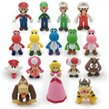 8~15cm Bros Bowser Super Mario Koopa Yoshi PVC Action Figures Luigi Donkey Kong Model Dolls Toys Free Shipping