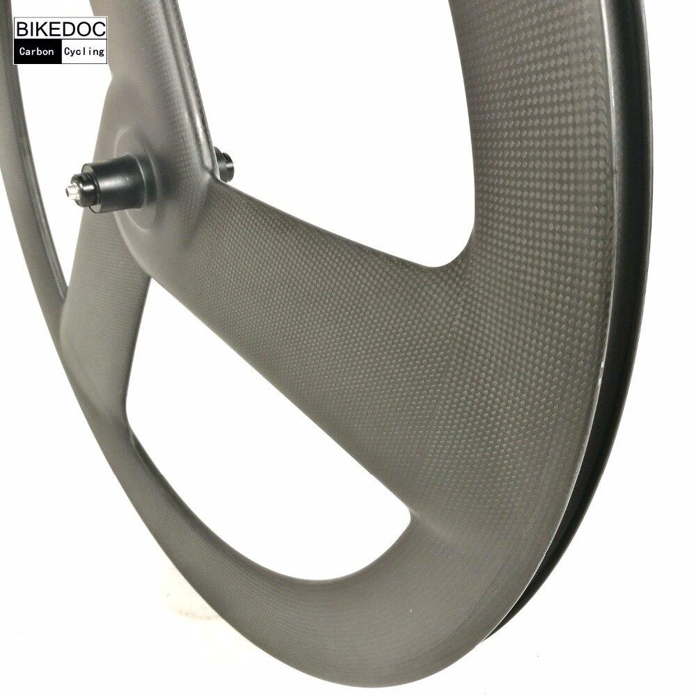 BIKEDOC Carbon 3 Speichen rad 700c Festrad Tri Sprach Carbon Räder 3 ...
