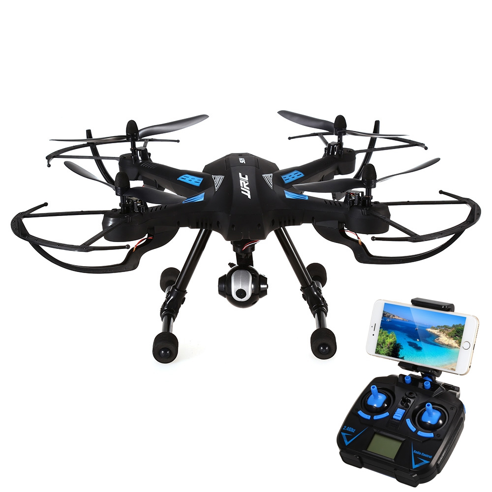 JJRC RC Drone 2.4G Real Time FPV 4CH 6 Axis Gyro Drones Headless Mode One Key Automatic Return RC Quadcopter - RTF RC Drone Dron with more battery original jjrc h12c drone 6 axis 4ch headless mode one key return rc quadcopter with 5mp camera in stock