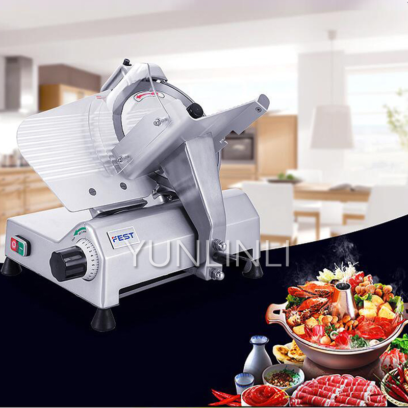 Mutton Slicer Commercial Meat Planing Machine 10 Inch Semi automatic Meat Slicer Mutton Roll Beef Roll RC 250B