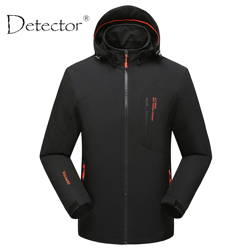 Detector Men Windproof Waterproof Thermal Softshell Jacket Hunting Fishing Camping Hiking Jacket Outdoor Clothing 2017 new brand outdoor softshell jacket men hiking jacket winter coat waterproof windproof thermal jacket for hiking camping ski