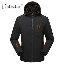 Detektor Männer Winddicht Wasserdicht Thermische Softshell Jacke Jagd Angeln Camping Wandern Jacke Outdoor-bekleidung