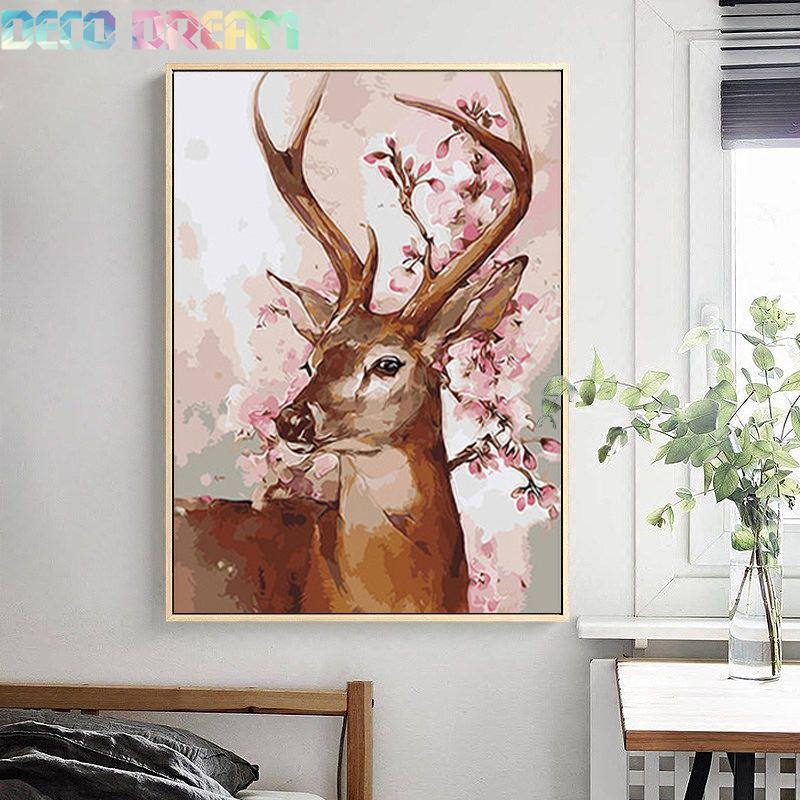 Diy Full Resin Round Diamond Painting Rhinestones Embroidery Kit Happy Deer Impressionist Cartoon Mosaic Decor As A Hobby Gift in Diamond Painting Cross Stitch from Home Garden