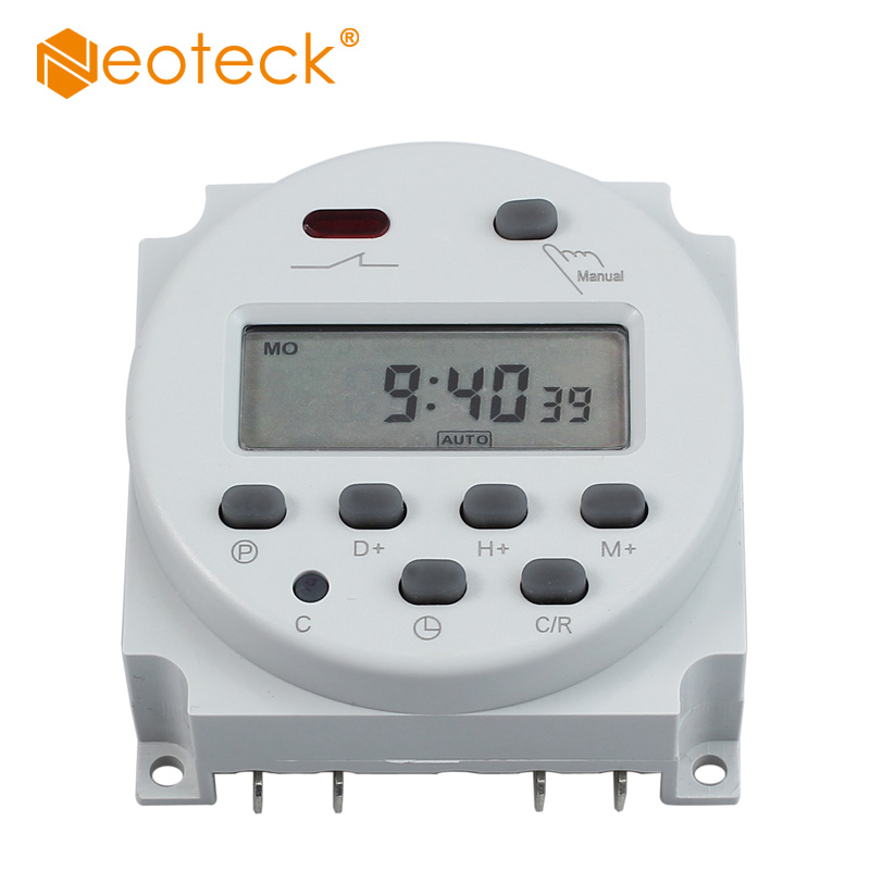 Neoteck 12V 16A Digital LCD Power Weekly 16A / 110 AC Digital Electronic LCD Time Relay Switch Programmable Timer Controller new high quality 16a 220v ac digital lcd weekly programmable timer time relay switch ve505 t0 41