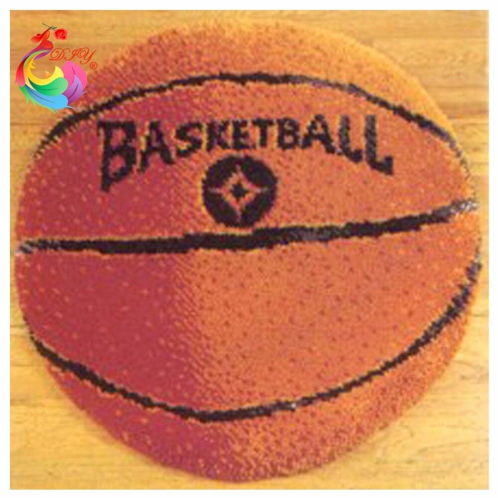 Carpet Embroidery Basketball Latch Hook Rug Kits Handmade Carpet  Cross Stitch Carpets And Rugs Knitting