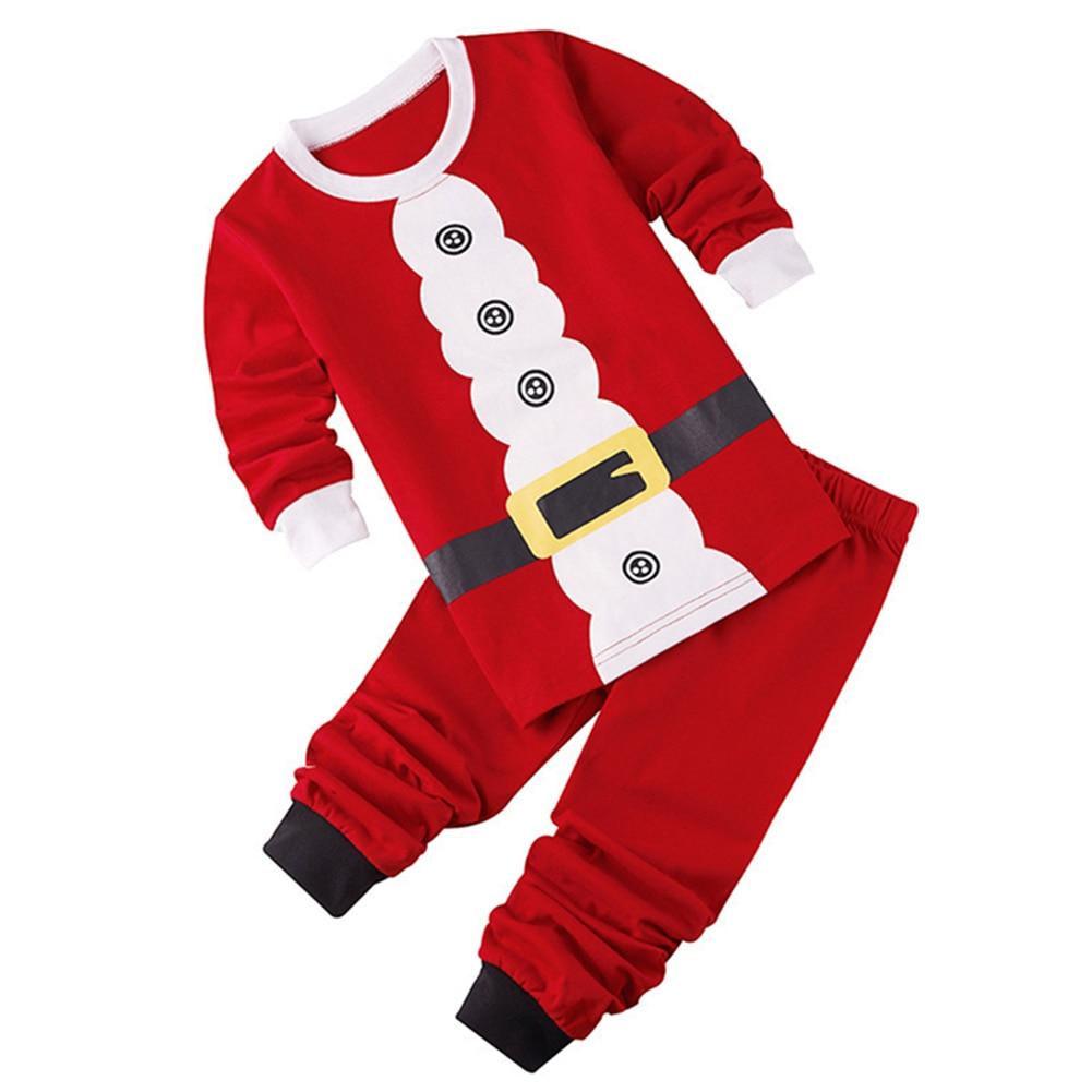 Baby Christmas Clothes Sets Santa Claus Tops+Pant Kids Clothes