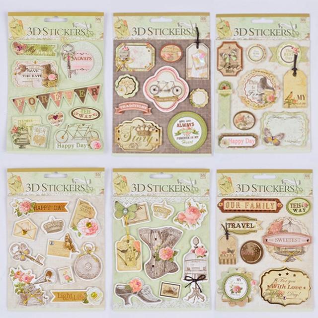 Vintage Diy 3d Aufkleber Tag Label Diy Scrapbooking Tagebuch