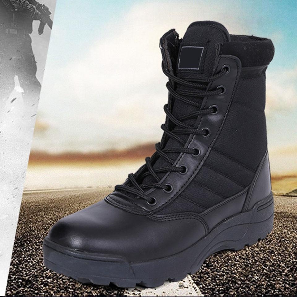Bottes militaires homme automne hiver hommes désert tactique Combat bottes travail chaussures de sécurité chaussures de formation en plein air