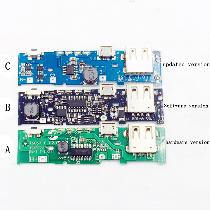 5V 1A 2.1A Power Bank Charger Module Lithium Charging Step Up Boost Circuit  Board 18650 Battery Shell Case DIY Kit For Xiaomi 5v 1a lithium battery charging board charger module li ion led charging board