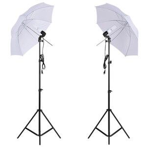 Image 4 - Andoer צילום סטודיו ערכת עם רך מטריית Softbox הנורה בעל אור הנורה מסתובב שקע רקע אור Stand תפאורות