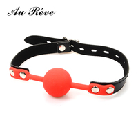 Unisex Silicone Open Mouth Ball Gag Adult Game Fetish Restraints Slave Tool Sex Products For Couple Free Shipping Au Reve