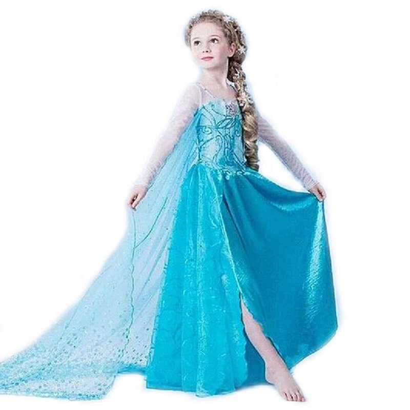 a343269bce Baby Girls Dresses New Arrival Dresses Girls Princess Anna Elsa Cosplay  Hallowmas Costume Kid's Party Dress Kids Girls Clothes