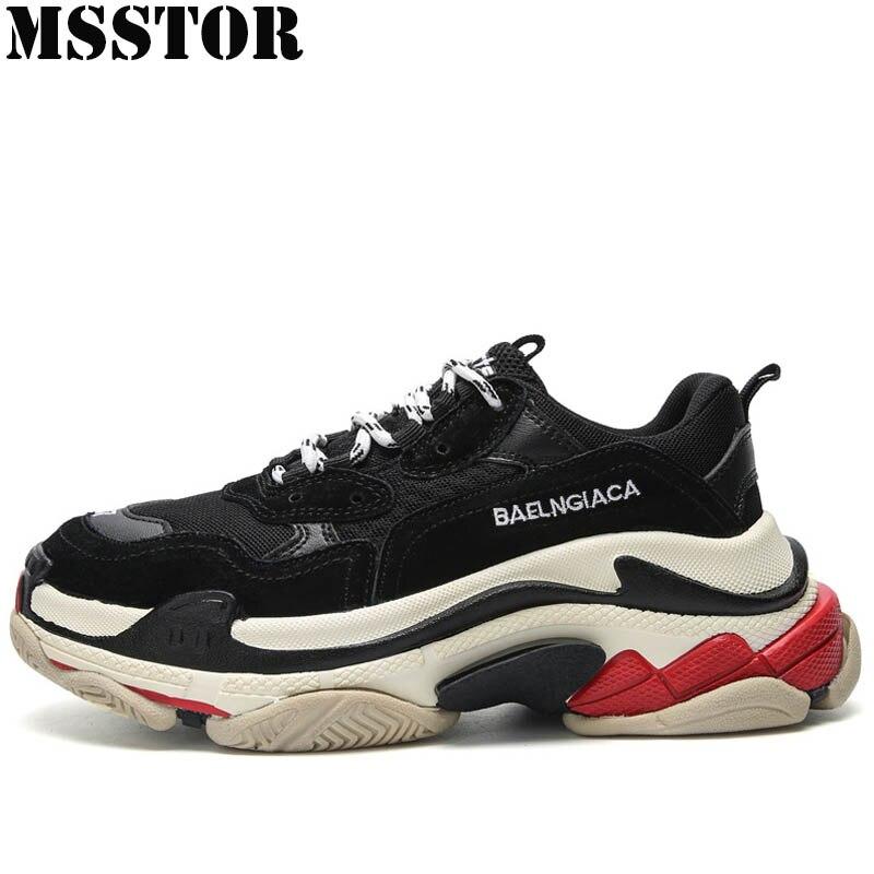 MSSTOR Nouvelles Femmes chaussures de Course Chaussures Homme Marque Sport Courir En Plein Air Sport Athlétique Chaussures Pour Hommes Amoureux Plus La Taille 34- 44 femmes Sneakers