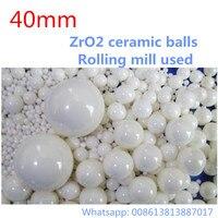 1kg Lot 40mm Ball ZrO2 Ceramic Balls Zirconia Balls Used For Planetary Mill Agitating Mill Roller
