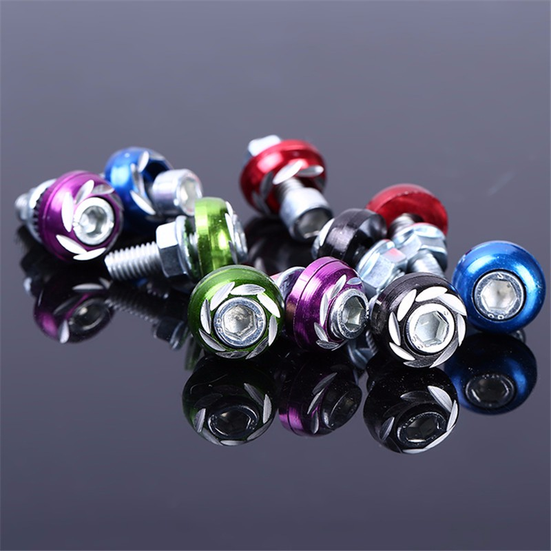 10 pcs/lot 5 Color Car Motorcycle Decorative License Plate Bolts Screws 6mm Thread Auto Hex Cap Screws Alloy Screws scooter modified shell decorative accessories motorcycle titanium screws color screws self tapping screws car styling diy kit