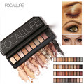 FOCALLURE Ten Colors Eye Shadow Makeup Shimmer Matte Eyeshadow Earth Color Eyeshadow Palette Cosmetic Makeup Set Nude Eye Shadow