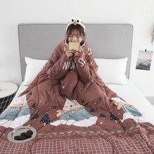 19 стилей,, зимнее «ленивое» одеяло с рукавами, семейное одеяло, накидка, накидка, Флисовое одеяло, покрытое одеяло для общежития