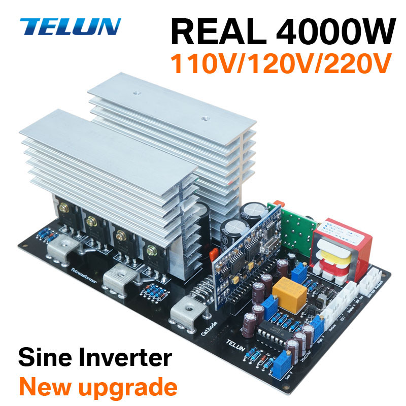 4000W Peak 8000W DC12V 24V 36V 48V 60V to AC 220V sine wave inverter motherboard for