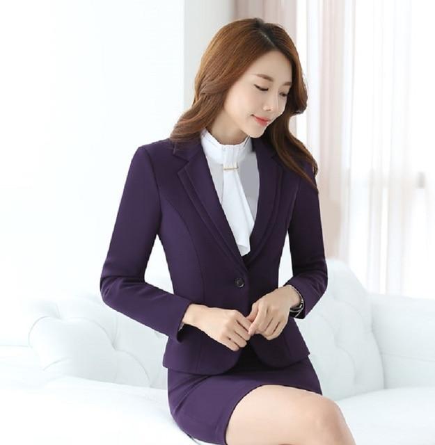 14a58240f89a26 Novelty Purple Formal OL Styles Professional Long Sleeve Business Women  Blazers & Jackets Slim Fashion Ladies Blazer Coat Tops