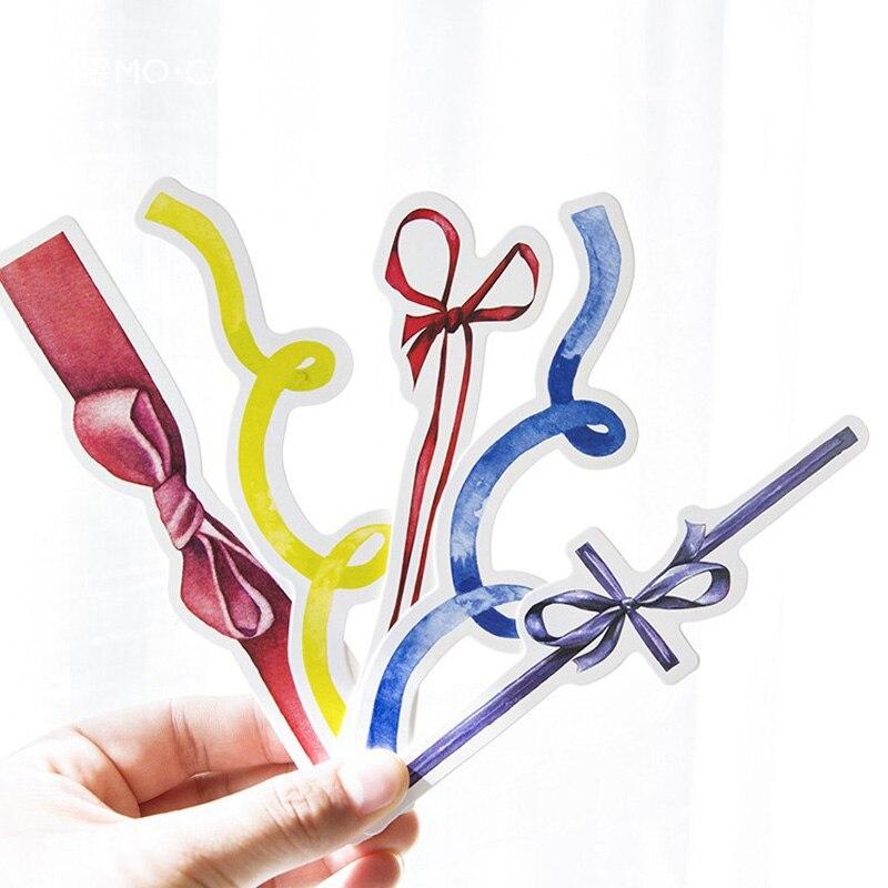 30 Pcs/pack Elegant Ribbon Bookmark Mark Of Page Decorative Stationery Film School Office Supply