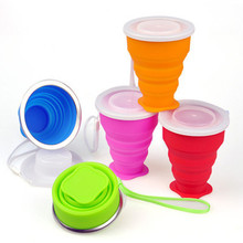 Travel Portable Cup Stainless Steel Silicone Retractable Folding Cups Telescopic Collapsible Coffee Cups Outdoor Sport Water Cup цена