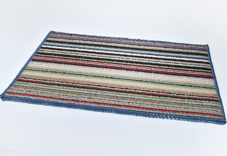 Hot Sale Thickened Striped Floor Mat Front Door Slip Pad Bathmats Non-slip Indoor Entrance Area Rug Chair