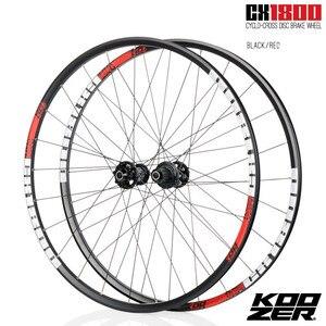 Image 3 - KOOZER CX1800 drogowego rowerowy hamulec tarczowy koła 4 łożyska 72 pierścień 700C koła rowerowe obrecz 24 otwór 1820g