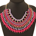 2017 Brand  Bohemian Bead Tassels Water Drop Vintage Choker Chain Bib Statement Necklaces & Pendants Fashion Jewelry for Woman
