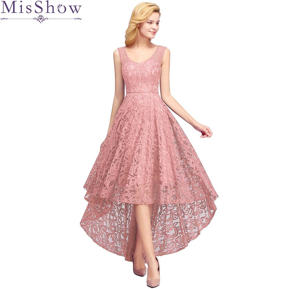 Robe Demoiselle D'honneur Dust Pink   Bridesmaid     Dresses   2019 A Line Long Back Lace   Dress   For Party Women Wedding Guest   Dress
