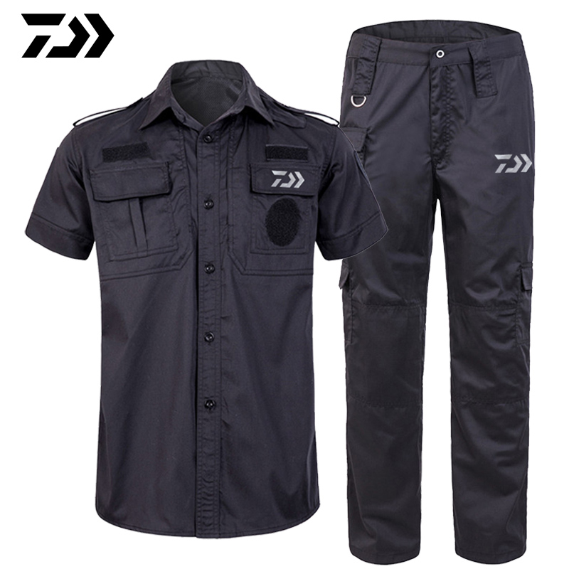 2019 Daiwa Fishing Pants Short Sleeve Jersey Fishing Jersey Men Fishing Clothing Suits Summer Fishing Trousers Anti Uv Shirts