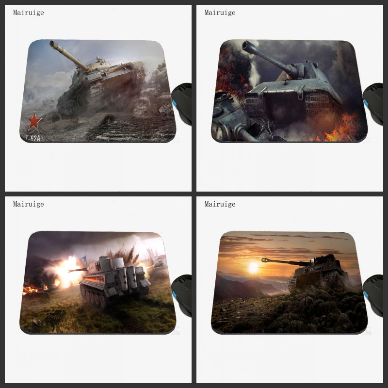 Mairuige World of tanks To Mouse Notbook Computer Mousepad 22x18 Rubber DIY Dura