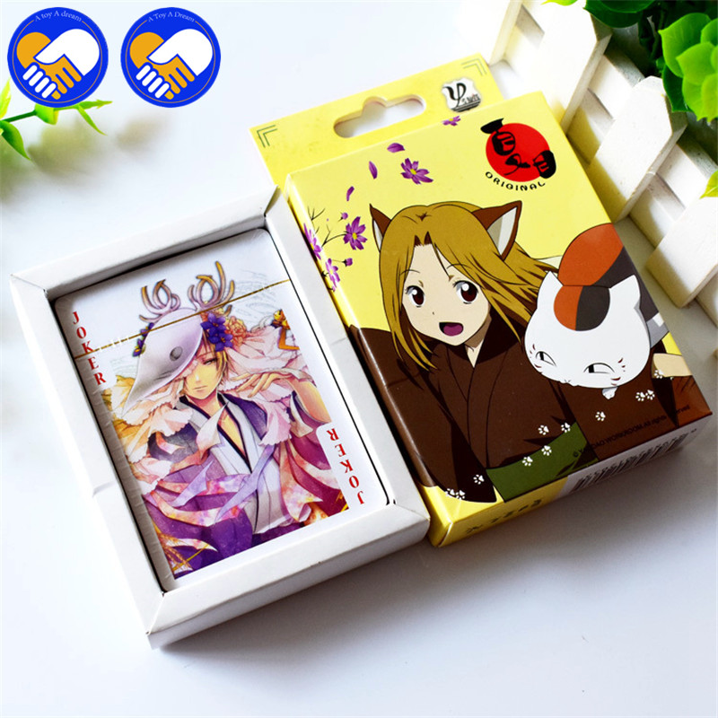 NEW 54Pcs Japanese Anime Natsume Yuujinchou Nyanko Paper Cards Game Cards Collection Action Figure Kids Poker Toys Cute Gifts