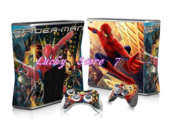 4 Tipos De Spider Man Pegatinas Cubierta Para Xbox 360 Slim Tatuajes