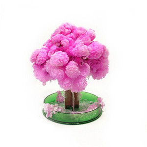 New 12*8cm Made in Japan Pink Magically Decorative Growing Paper Trees Magic Japanese Sakura Tree-Brand(China)