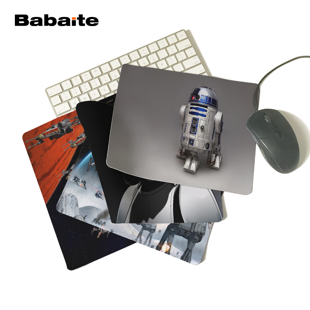Babaite Top Game Mouse Pad Print Star Wars R2D2 Robot Style Durable Anti-slip Mouse Mat for Optical Mouse Pad