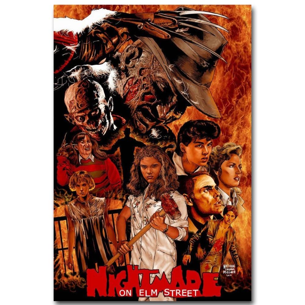 A Nightmare on Elm Street USA Horror Movie Art Silk Poster 12x18 24x36