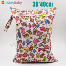 1 pc single pocket printed pul fabric wet bag, reusable diaper bag for mom, wet bag wholesale