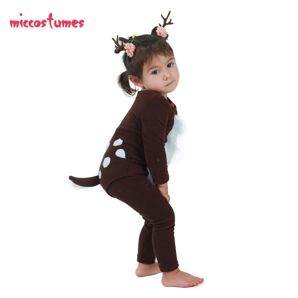 Image 3 - Child Deer Costume with Horns for Halloween-in Girls Costumes from Novelty & Special Use