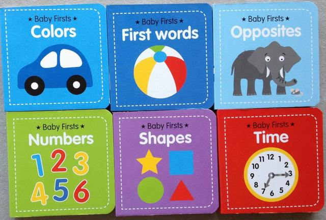 Early Learning Books Child cardboard small book baby book baby firsts 6 book set