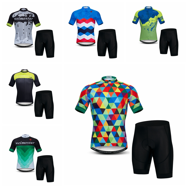Cycling Clothings Cycling Jerseys Set Mountain Bike Clothes Sportswear Racing Bicycle Cycling Clothing Maillot Ropa Ciclismo Diamond Green Blue