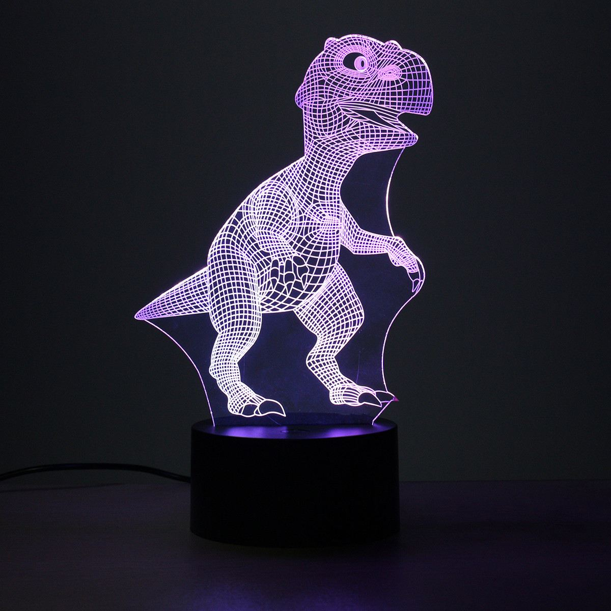 Colorful Dinosaur Shape 3D LED Night Light Button Switch Table Lamp For Christmas Party Gift Toy Bedroom Home Decor Lighting 3d christmas snowman shape touch colorful night light