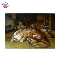 HOMLIF Diy diamond painting embroidery naughty cat and cat diamond pattern Painting rhinestones plastic crafts