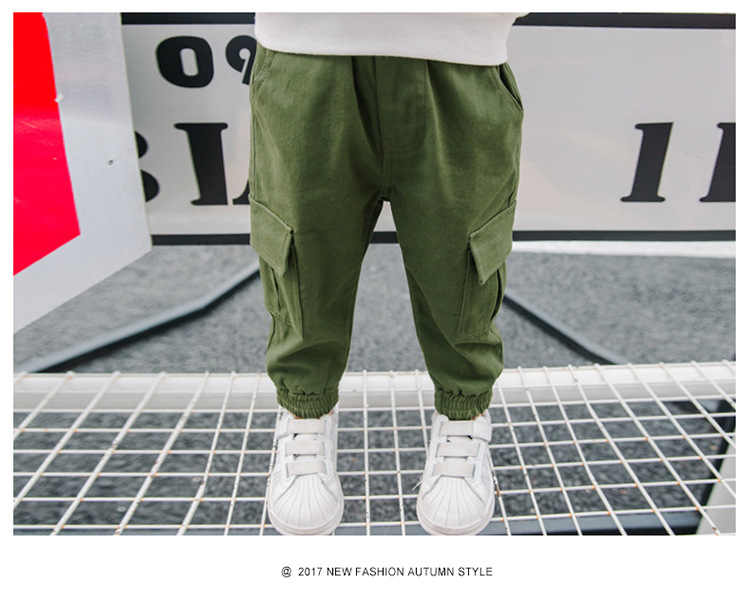 45cac332af New Autumn fashion boy Trouser cargo pants solid Casual children capris baby  cotton full length Winter