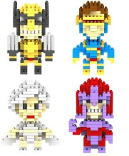 Small diamond particles assembled puzzle toy plastic building blocks X-Men Wolverine, Magneto Storm