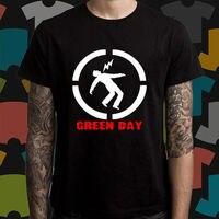 New GREEN DAY Punk Rock Band Logo Men S Black T Shirt Size S To 3XL