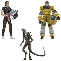 New Sci Fi Terror Movie Aliens Isolation Amanda Ripley Compression Suit Jump Suit Xenomorph Original NECA 7 Action Figure